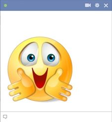 Hug smiley for Facebook! Send your favorite people a hug when you share this smiley on their wall or send it as a chat emoticon.