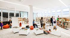 City Library, Library Ideas, Personal Storage, Brick And Wood, Modern Library, Glass Facades, Gothenburg, Learning Spaces, School Architecture