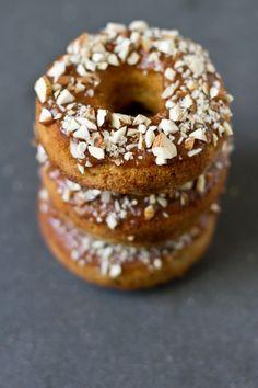 Rhubarb Almond Doughnuts