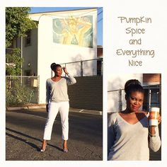 9/6/16 Hint Of Fall Print for #septemberwearwhatwhere + Work, Work, Work, Work, Work for #simplystyledseptember #stylechallenge #ootd #outfitoftheday Wearing WHITE after Labor Day to work but feeling like fall with my #pumpkinspicelatte  #target #targetstyle gray sweater #jcpenney #whitepantsafterlaborday  #kohls #floralheels  #muralchaser #mural #muralart #urbanart #downtownfresno #fresnoart