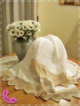 Coppia asciugamani di lino.