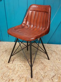 Handmade leather dining chair available from Benmore Studio furniture store Dublin Console Table, Dining Table, Leather Dining Chairs, Studio Furniture, Contemporary Dining Chairs, Office Table, Kitchen Chairs, Industrial Style, Home And Garden