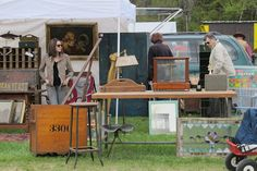Brimfield Antique Show, Brimfield, MA. One of the largest flea markets in the world and it's amazing!!