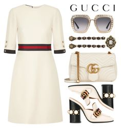"""""""Gucci"""" by rasa-j ❤ liked on Polyvore featuring Gucci, gucci and womensFashion"""