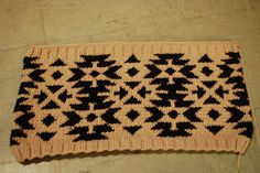 snood col cowl phildar jacquard tricot