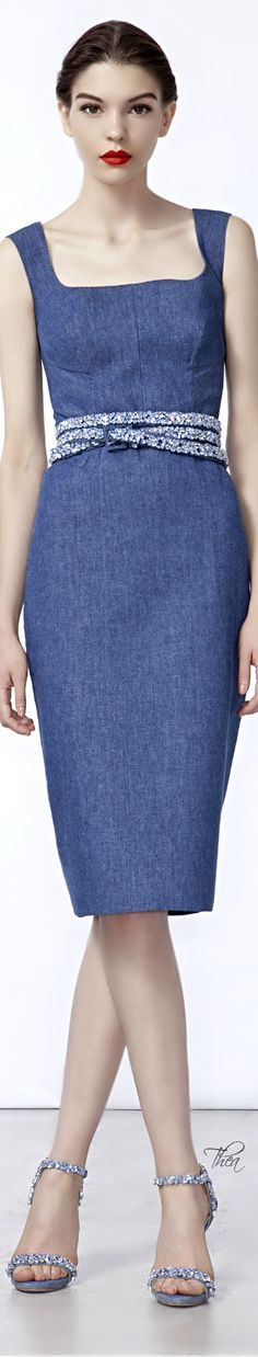 Ermanno Scervino SS 2014, Denim sheath dress | The House of Beccaria~