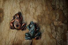 Купить Лягушки в стилистике biomechanic - лягушка, стимпанк, бионика, субкультуры, жаба, жабик, квакушка, квакша