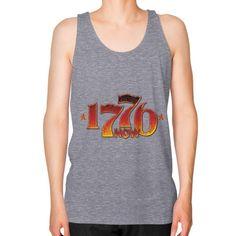 1776 Is Now 2016 Trump Revolution Unisex Fine Jersey Tank (on man)