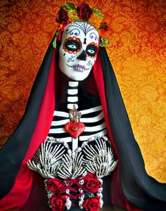 La Muerte Photograph by Tammy Wetzel  - sculpture made for a Day of the Dead altar