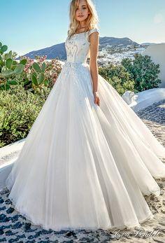 eva lendel 2017 bridal cap sleeves bateau neckline heavily embellished bodice romantic a line wedding dress mid scoop back sweep train (thaiya) mv
