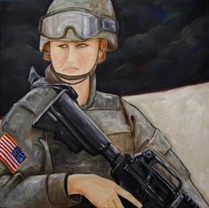 """""""Soldier On"""" by Catherine Small  Oil/Canvas 24"""" x 24""""  2012  #military"""