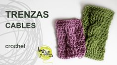 Tutorial Trenzas u Ochos Crochet o Ganchillo Cables