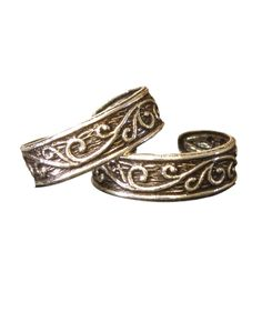 Golden Sterling Siver Toe Rings - Id' use them as Ear Cuffs!