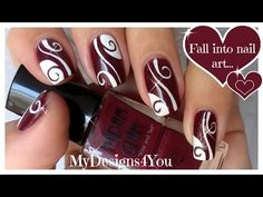 Abstract Nail Art | Burgundy Madam Glam Nails ♥ Бордовый Дизайн Ногтей | Liudmila Z. Video | Beautylish