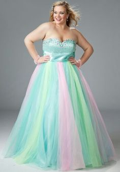 Prom Dresses by Designer at | Peach, Prom and Big girl fashion