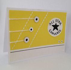 All Star Converse Card- Handmade Cards- Diy Cards