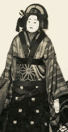 Japanese Bunraku puppet, dating to about 1900.