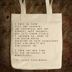 Quote Tote - F. Scott Fitzgerald