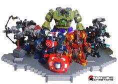 29 Lego Marvel MOCs Ideas – How to build it Lego Mecha, Lego Robot, Lego Marvel's Avengers, Lego Batman, Legos, Mega Pokemon, Lego Boards, Amazing Lego Creations, All Lego