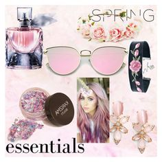 """""""Spring.E"""" by dhanutza90baby ❤ liked on Polyvore featuring beauty, Lancôme, Forever 21 and Kate Spade"""