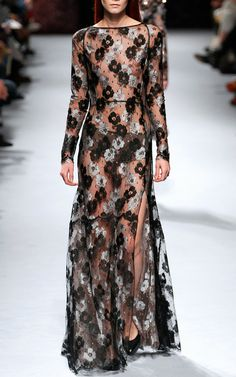Lace Gown by Nina Ricci for Preorder on Moda Operandi