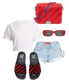 """Untitled #20"" by xssiri on Polyvore featuring Hanes and Off-White"