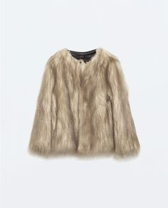 Image 5 of ROUND NECK FUR JACKET from Zara