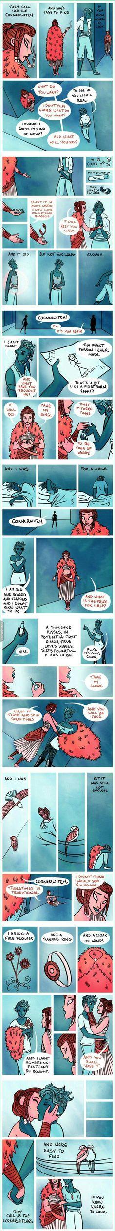 Cornerwitches comic strip