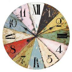 60cm Round Multi Coloured Wall Clock