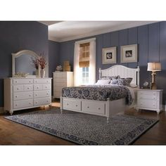 white panel queen bed frame | ... place white bedroom 3pc dresser hayden place white bedroom arch mirror