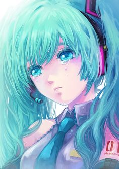 Anime makes crying look pretty....when in reality. No one ever looks like this:(