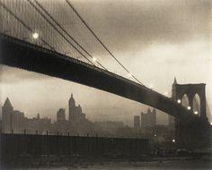 Brooklyn Bridge, Nocturne Edition: 38/75 Portfolio: A Portfolio Plate: XI Karl Struss (United States, 1886-1981) circa 1913, printed 1979 Photographs Platinum print