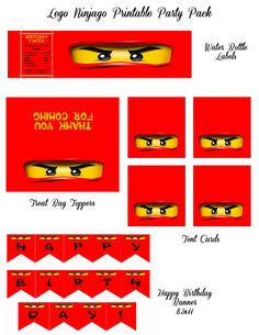 Lego Ninjago printable party pack INSTANT DOWNLOAD. $10.00, via Etsy.