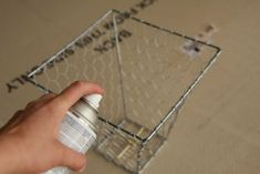chicken wire over an old lamp shade frame = basket