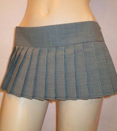 ~ Gingham mini skirt~  ITEM DESCRIPTION : Gingham Pleated Skirt. Please check all the pictures so you will have a good idea about the color. Picture is showing the very true color. It wraps around and is held with very strong Velcro for very easy on/off. Something very special for you. Please measure your waist with a measurement tape. I use inches only. Once you figure out where you would like to wear your skirt then you pick our measurements. Please do not copy your jeans size like…