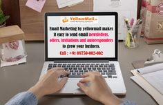 Email Marketing by yellowmail makes it easy to send email newsletters, offers, invitations and autoresponders to grow your business. Know more visit : http://www.yellowmail.in/
