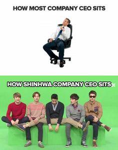 normal company CEO VS Shinhwa company`s CEO