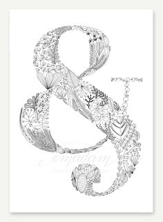 "Emadam - Because I love Paper - ""Ampersand"" Art-Print, DIN A3"
