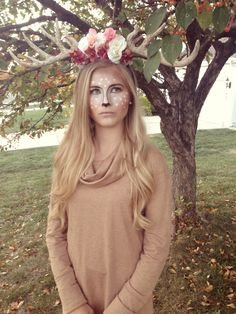 Need a cute Halloween costume? Iu0027ve gotcha covered) Stay tuned for for Halloween ideas coming soon! Check out target for easy fox and deer face tattoos.  sc 1 st  Pinterest & Homemade Lion Costume Ideas. | Halloween | Pinterest | Lions ...