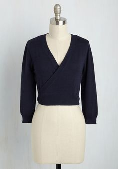 It's a Wrap Cardigan in Navy, @ModCloth