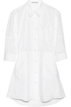 Acne|Dee Solid cotton shirt dress|NET-A-PORTER.COM