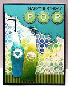 Soda - Homemade Cards, Rubber Stamp Art, & Paper Crafts - Splitcoaststampers.com