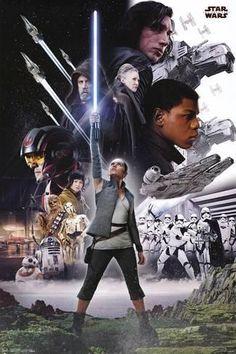 Trends International Star Wars: The Last Jedi Group Poster Star Wars Film, Star Wars Holonet, Star Wars Watch, Star Wars Poster, Streaming Movies, Hd Movies, Movie Tv, Movies Online, Luke Skywalker