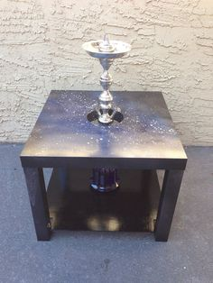 Galaxy Eclipse Hookah Stabilizer Table Made to by WolfEyesArt