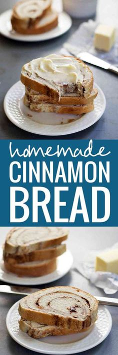 Homemade Cinnamon Swirl Bread - warm, sweet, and delicious bread for breakfast or snack.