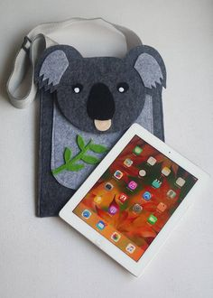 Pro/Tablet/piccolo pc/tastiera 30 * 25 cm feltro custodia per iPad con koala affumicato