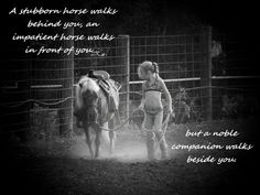 Horse quotes / little girl with pony