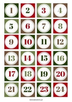 Christmas Paper Crafts, Diy Christmas Gifts, Christmas Projects, Advent Calenders, Diy Advent Calendar, Printable Numbers, Boyfriend Anniversary Gifts, Vintage Lettering, Christmas Images