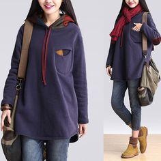 Tops - Frauen Herbst Casual Tops Hoodie 387 - ein Designerstück von MissJuan bei DaWanda