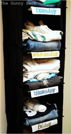 Clothing Rack, great idea to help the morning routine for back to school